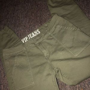 Green cargo like Pants